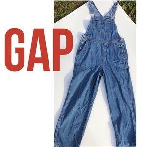 GAP denim blue jean bib overalls S excellent cond.